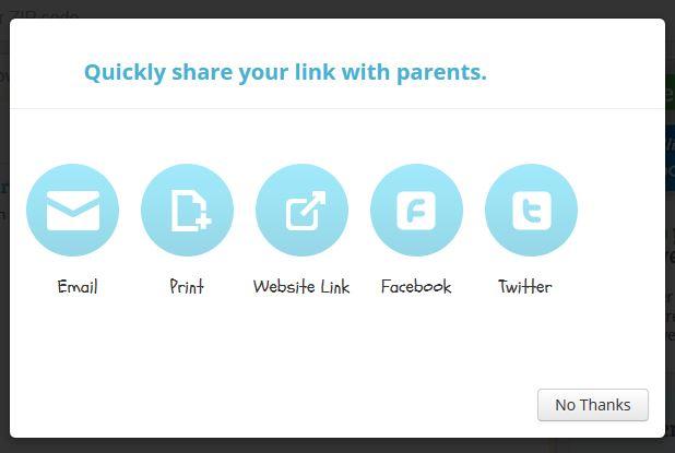 share you list screen