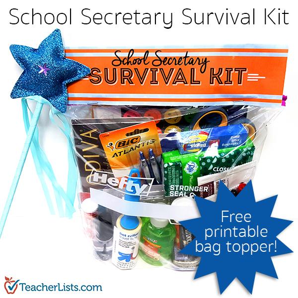 TL School Secretary Survival Kit Pinterest Free Printable 600x600