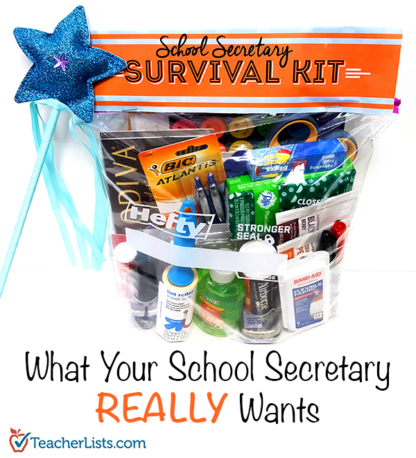 TL School Secretary Survival Kit Pinterest 600x660