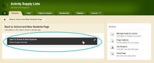 configure app settings page