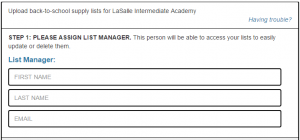 assign a list manager page