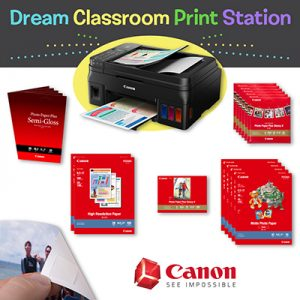 Canon print station printer with accessories