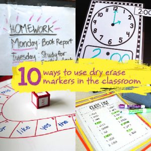 TeacherLists Blog |10 Ways to Use Dry Erase Markers in the Classroom
