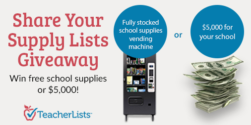 share your supply list giveaway graphic