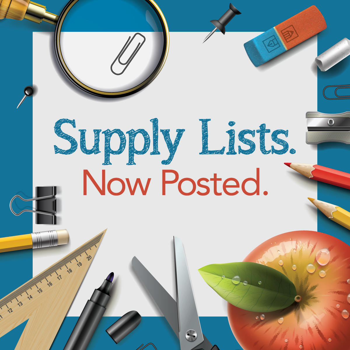 supply list graphic for school website