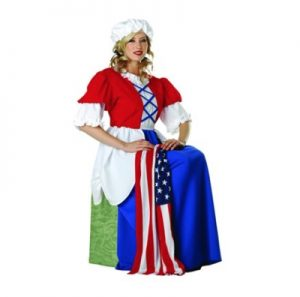 Woman wearing Betsy Ross costume