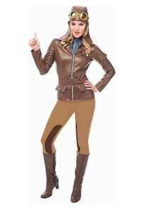 Woman wearing Amelia Earheart costume