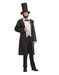 Man wearing Abe Lincoln costume