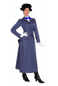 Woman wearing Mary Poppins costume