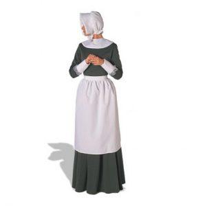Woman wearing pilgrim costume