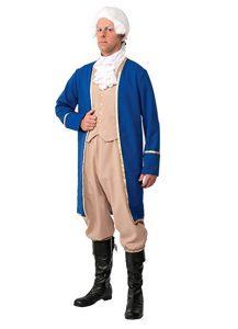 Man wearing George Washington costume