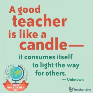 A good teacher is like a candle quote