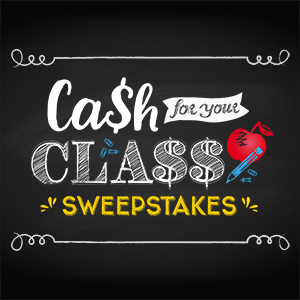 Cash for your Class Wish List Sweepstakes Logo