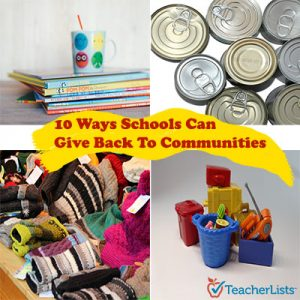 10 Ways Schools Can Give Back To Their Communities