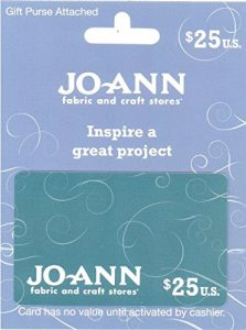 JoAnn Fabric and Craft Stores gift card