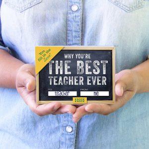 The Best Teacher Ever journal