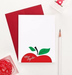 Personalized apple stationary
