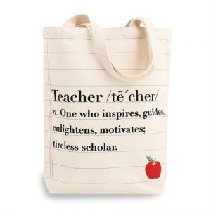 Definition of a teacher tote bag