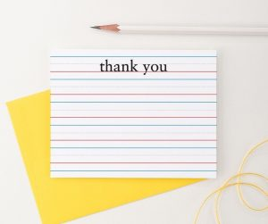 Lined paper note cards
