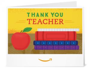 Amazon gift card - thank you teacher