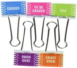teacher binder clips