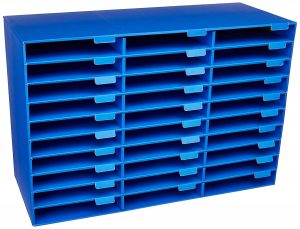 blue classroom mailbox