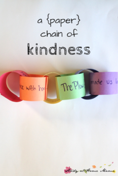 Paper chain of kindness using craft paper