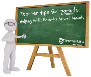 back-to-school anxiety chalkboard