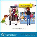 Back to school budget cartoon