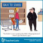back to school shady character cartoon