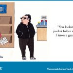 back to school shady character cartoon for twitter