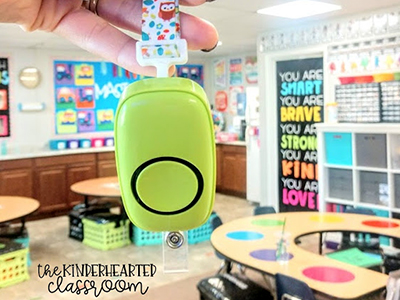 Wireless doorbell from the Kinderhearted classroom