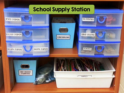 A school supply station to save teachers time
