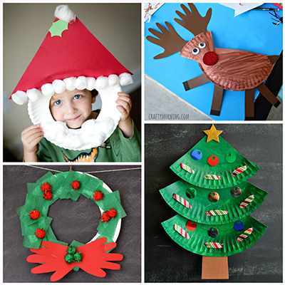 paper plate holiday crafts