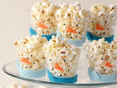 popcorn snowmen cups