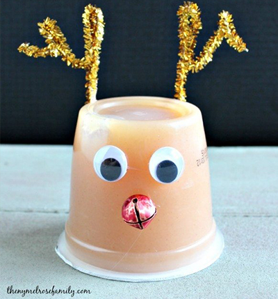 rudolph applesauce cup