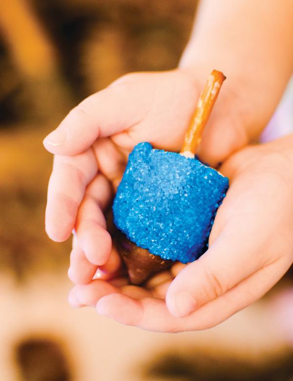 blue Marshmallow Dreidel