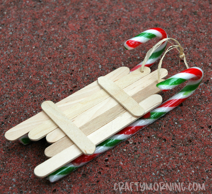 sled made out of popsicle sticks