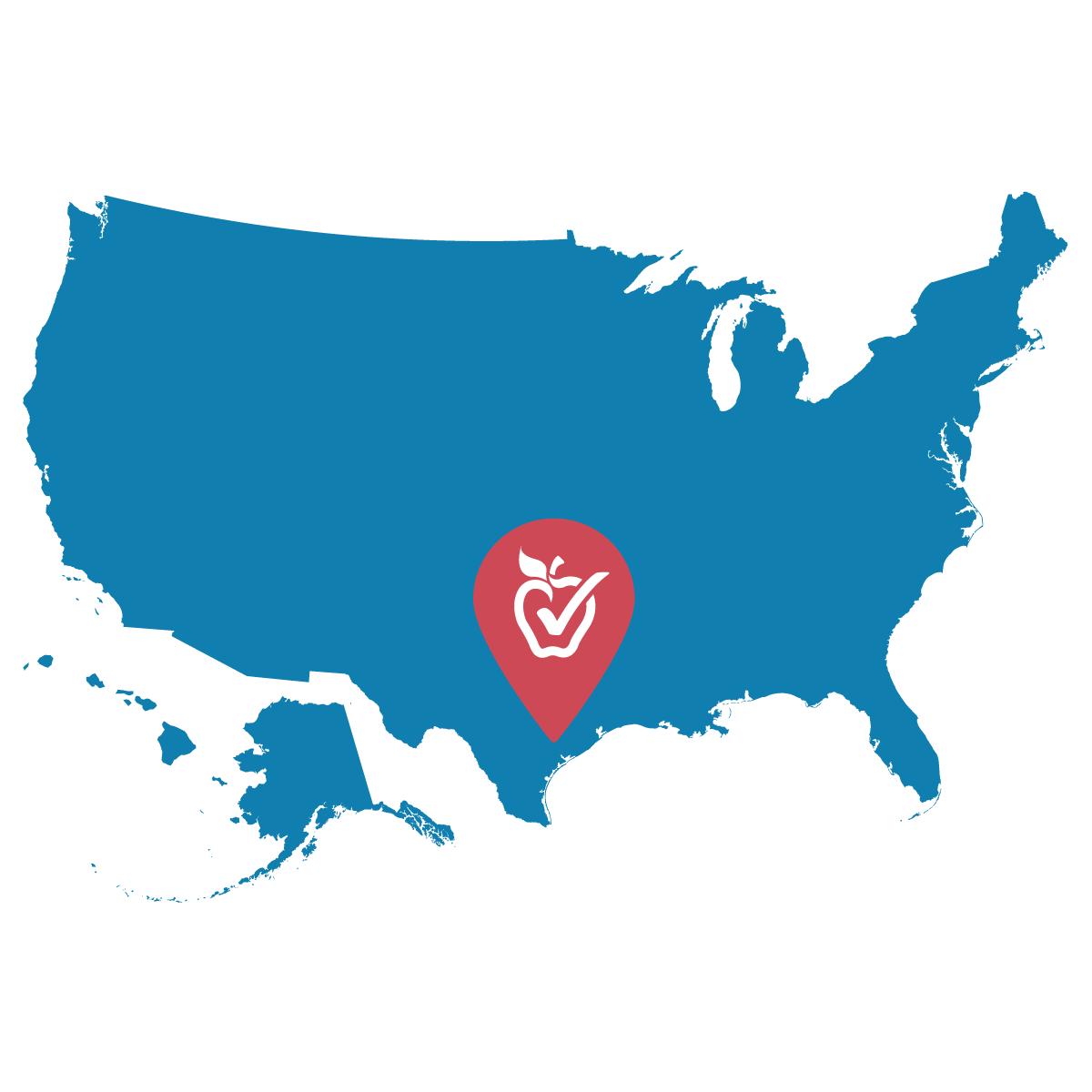 Ganado Texas map