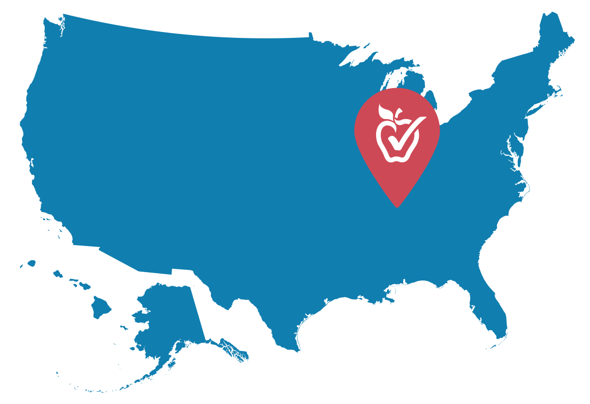 united states map with nashville pin