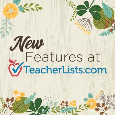 TeacherLists product updates main graphic