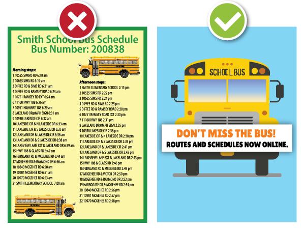 school bus schedule graphic