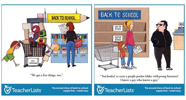 back to school cartoons for back-to-school communication