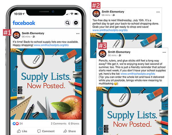 back-to-school communication with social media post examples