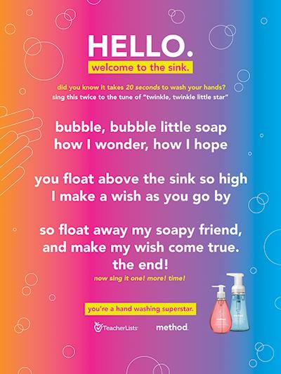Method Soap handwashing song poster