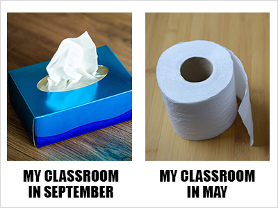 My classroom in September...and May