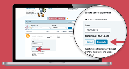 Feature Alert: Post and Share Lists With Parents on Your Schedule