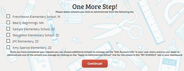 School(s) you'd like to become an admin for