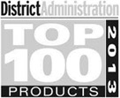 District Administration Top 100 Products of 2013 badge.