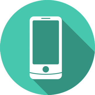 Icon image of a cell phone.
